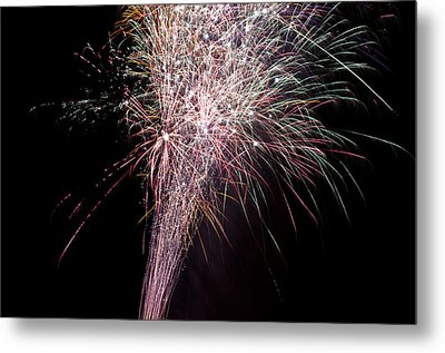 Metal Print featuring the photograph Fireworks by David Isaacson