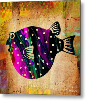 Fish Plaque Metal Print by Marvin Blaine