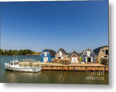 Fishing Dock In Prince Edward Island  Metal Print by Elena Elisseeva