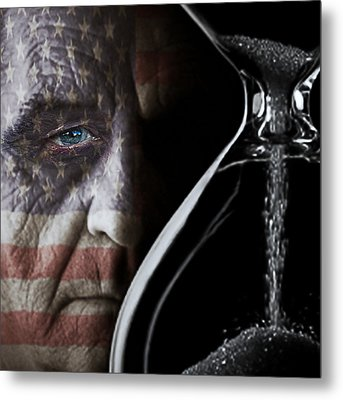 Flag Face Metal Print by Pro Shutterblade
