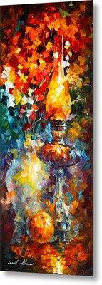 Flame Metal Print by Leonid Afremov