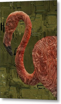 Flamingo Metal Print by Jack Zulli