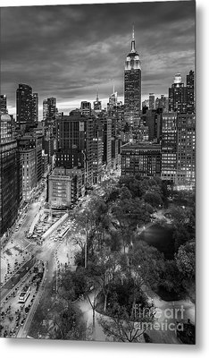 Flatiron District Birds Eye View Metal Print by Susan Candelario