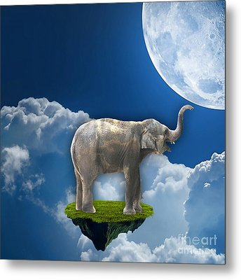 Flight Of The Elephant Metal Print by Marvin Blaine