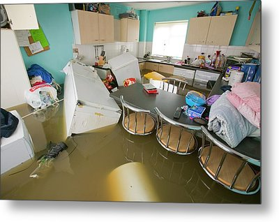 Flooding In Toll Bar Metal Print
