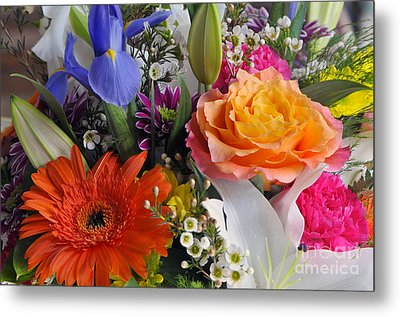 Floral Bouquet 5 Metal Print by Sharon Talson
