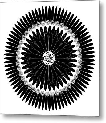 Floral Ornament Metal Print by Frank Tschakert