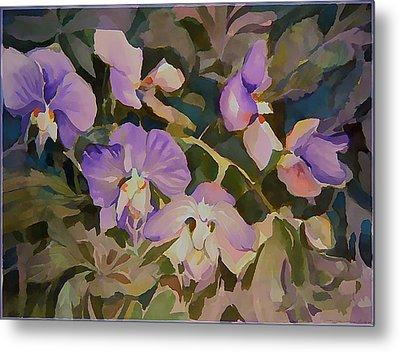 Florida Orchids Metal Print by Mindy Newman