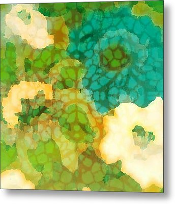 Metal Print featuring the digital art Flower Garden by Lisa Noneman