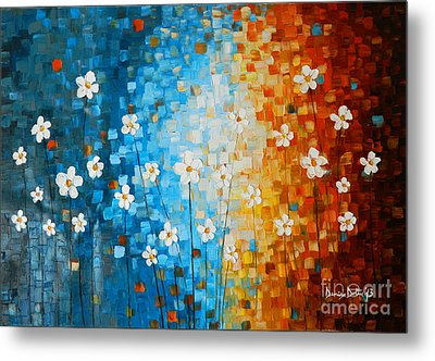 Flowers After Rain Metal Print by Denisa Laura Doltu