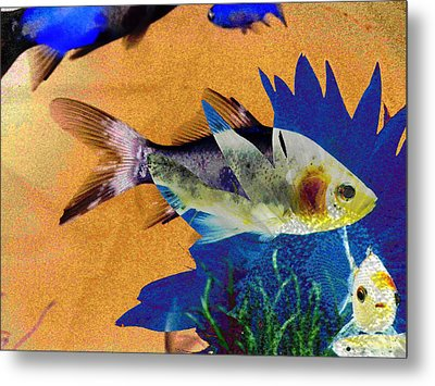 Flowers And Fins Metal Print by Lenore Senior