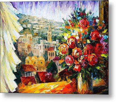 Flowers Of Jerusalem Metal Print by Leonid Afremov