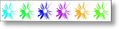 Metal Print featuring the digital art Flowers On White by Maggy Marsh