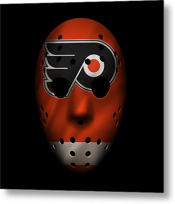Flyers Jersey Mask Metal Print by Joe Hamilton