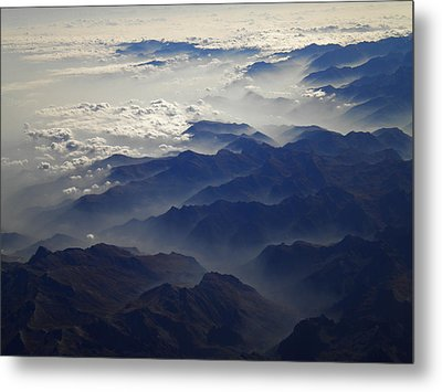 Flying Over The Alps In Europe Metal Print