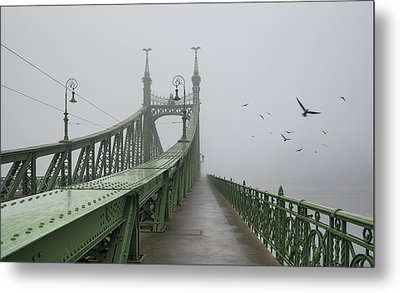 Foggy Day In Budapest Metal Print by Ayhan Altun
