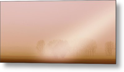 Metal Print featuring the photograph Foggy Morning by Franziskus Pfleghart