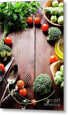 Food Ingredients Metal Print