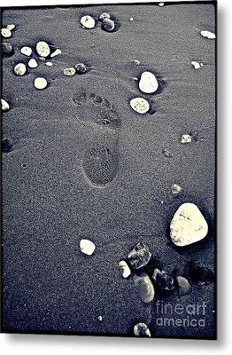 Footprint Metal Print by Nina Ficur Feenan