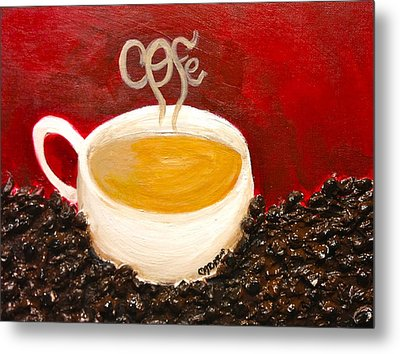 For The Coffee Lover Metal Print by Melissa Torres