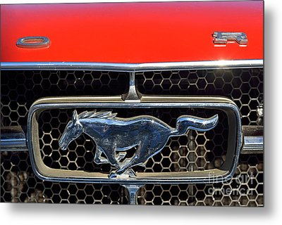 Ford Mustang Badge Metal Print by George Atsametakis