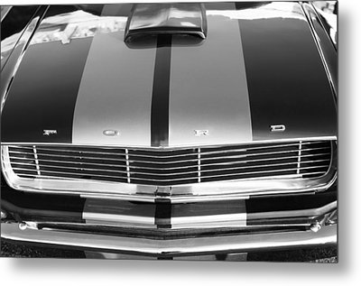 Ford Mustang Grille Metal Print by Jill Reger