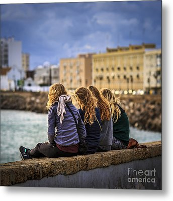 Foreign Students Cadiz Spain Metal Print by Pablo Avanzini