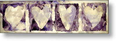 Four Hearts Metal Print by Carol Leigh