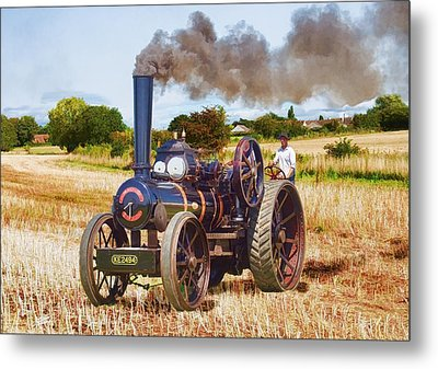 Fowler Ploughing Engine Metal Print by Paul Gulliver