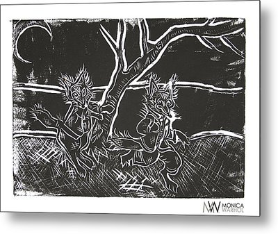 Foxy Night Metal Print