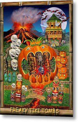 Freaky Tiki Tombs Metal Print by Glenn Holbrook
