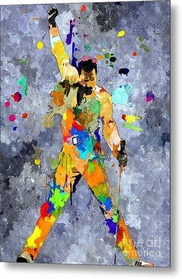 Freddie Mercury Metal Print by Daniel Janda