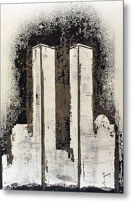 Freedom Towers Metal Print by Richard Sean Manning