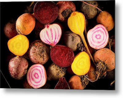 Fresh Beetroot And Red Onions Metal Print