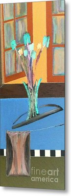 Metal Print featuring the painting Fresh Flowers by Bill OConnor