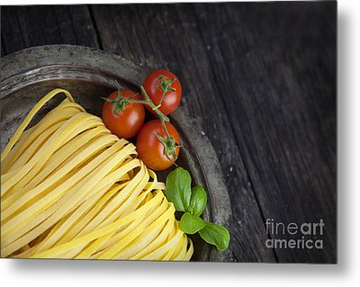 Fresh Pasta Metal Print by Mythja  Photography