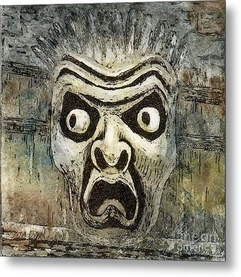 Fright Metal Print by Suzette Broad