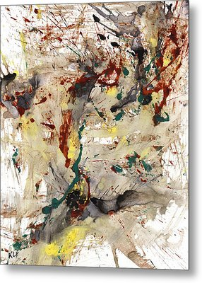 Metal Print featuring the painting From The Chaotic Mess Series - 1260.112212 by Kris Haas