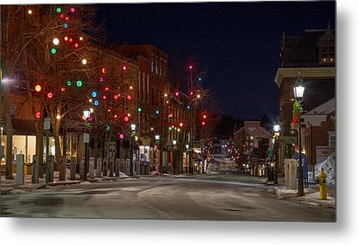 Metal Print featuring the photograph Front Street by David Hufstader