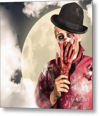 Full Moon On A Scary Halloween Night Metal Print by Jorgo Photography - Wall Art Gallery
