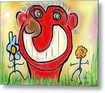 Funny Face Metal Print by Susan Townsend