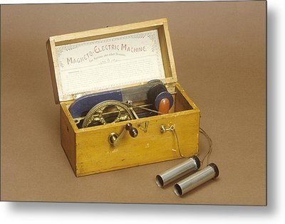 Galvanism Machine Metal Print by Science Photo Library