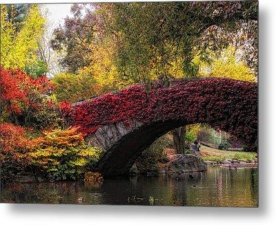 Gapstow Bridge In Autumn Metal Print by Jessica Jenney