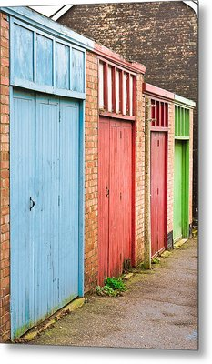 Garage Doors Metal Print by Tom Gowanlock