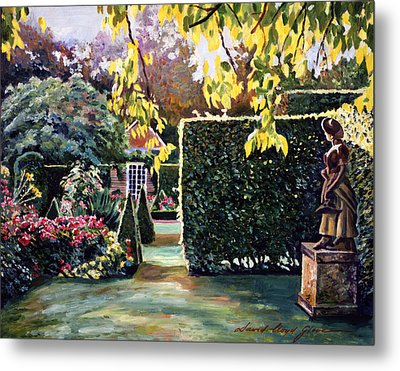Garden Statue Metal Print by David Lloyd Glover