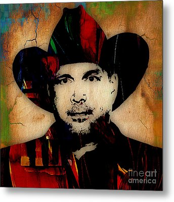 Garth Brooks Collection Metal Print by Marvin Blaine