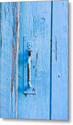 Gate Handle Metal Print by Tom Gowanlock