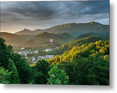 Gatlinburg Tennessee Great Smoky Mountain Sunrise Metal Print by Mark VanDyke