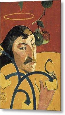 Gauguin, Paul 1848-1903. Self-portrait Metal Print