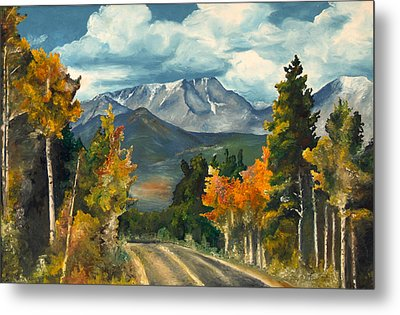 Metal Print featuring the painting Gayle's Highway by Mary Ellen Anderson